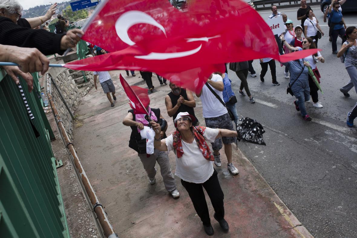 Pochod za spravedlnost v Turecku