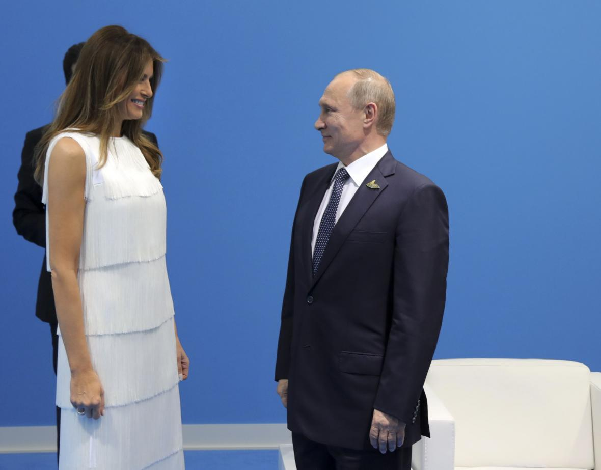 Melania Trumpová s Vladimirem Putinem