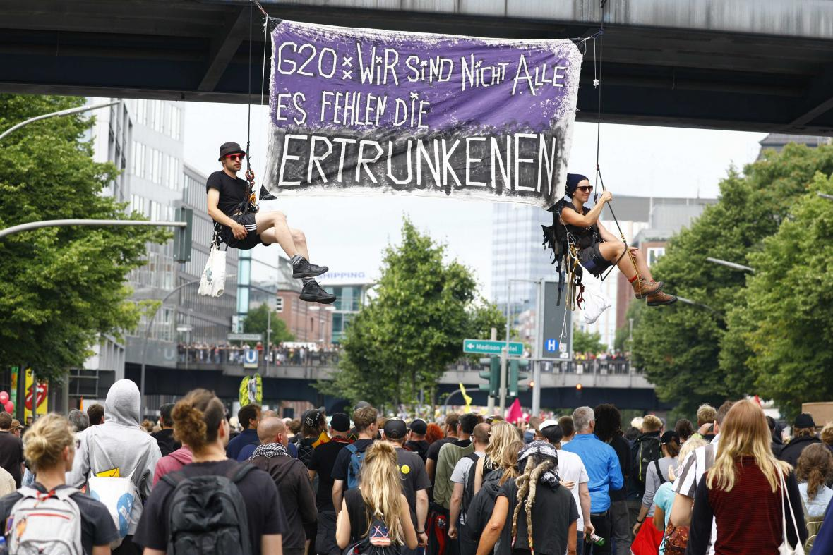 Demonstrace během summitu G20