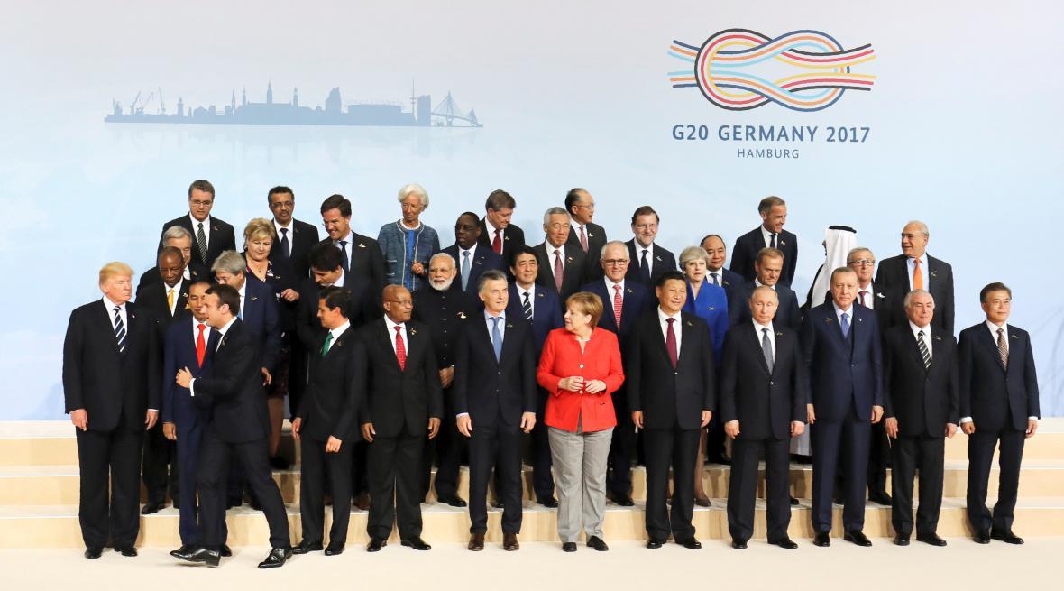 Účastníci hamburského summitu G20