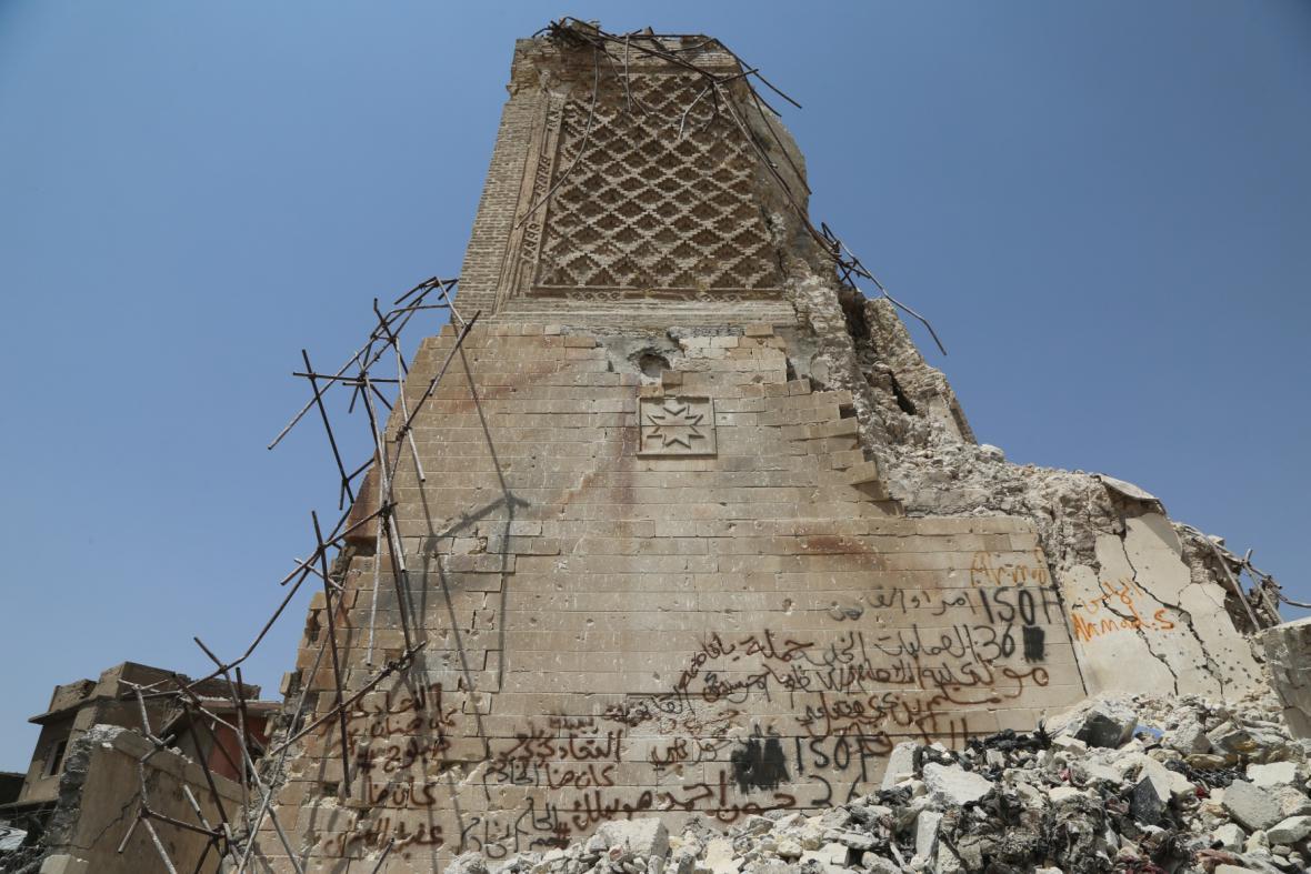 Zničená mosulská Velká mešita