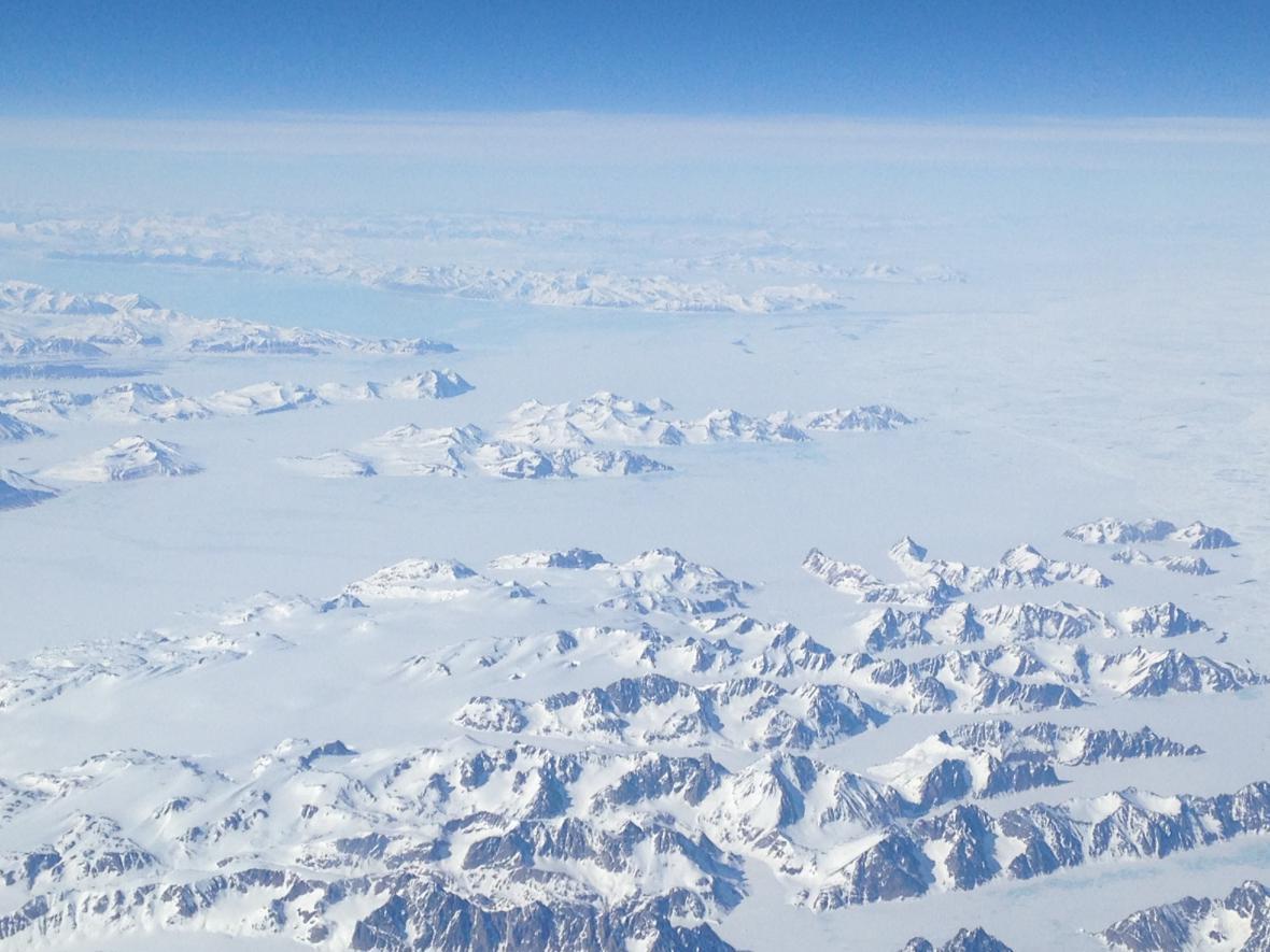 Grónsko z letadla