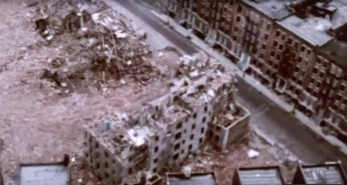 Vyhořelé domy v New Yorku