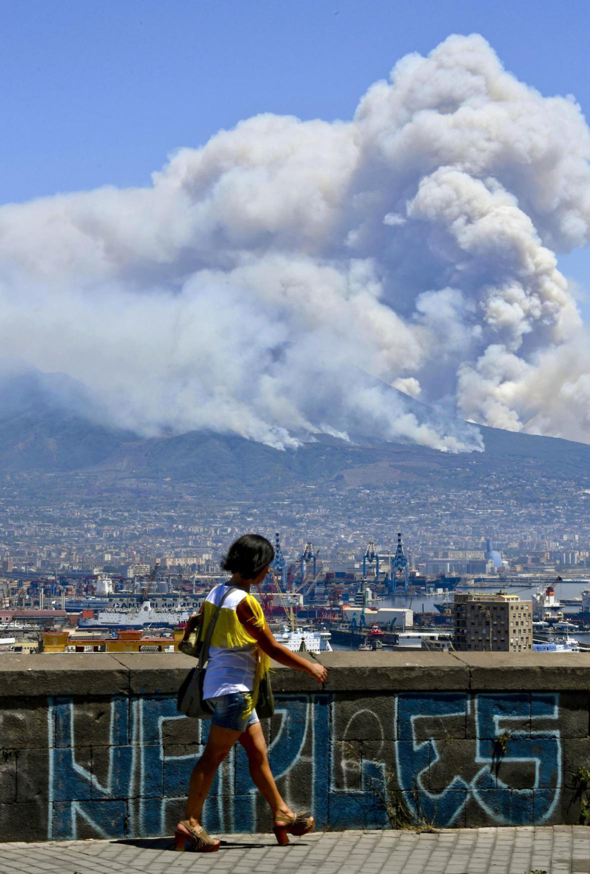 Hořící Vesuv