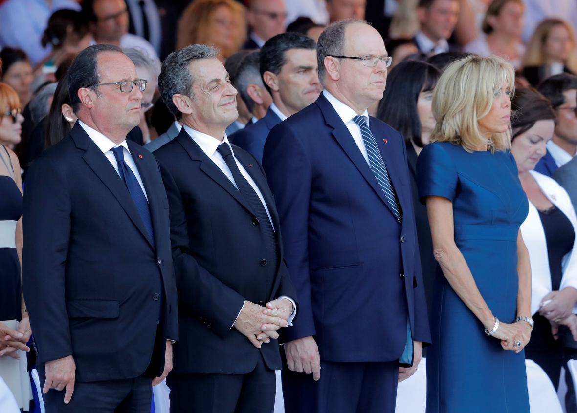 Hollande, Sarkozy a kníže Albert během piety v Nice