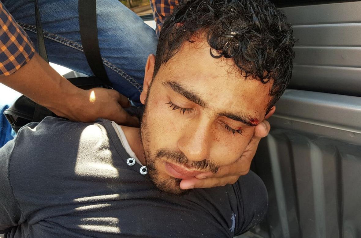 Zadržený egyptský útočník