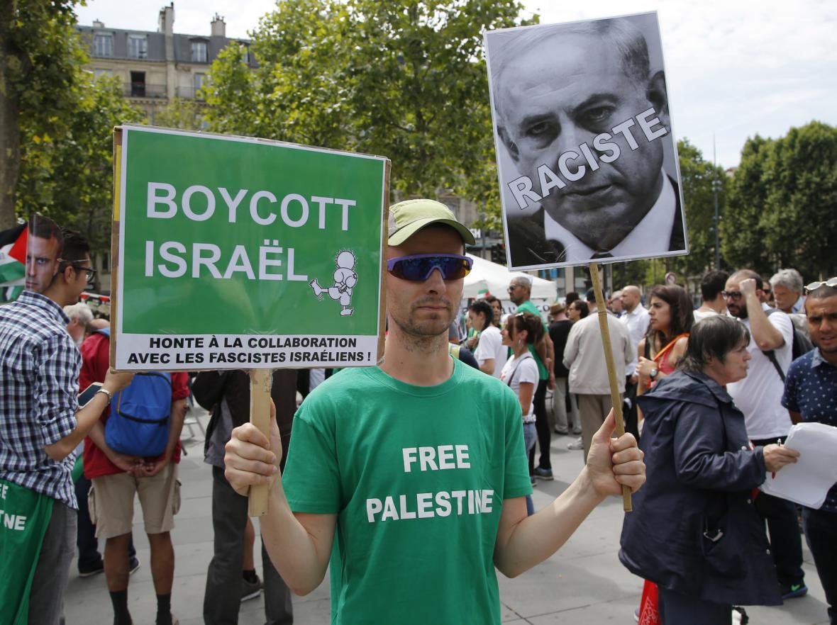 Protiizraelský protest ve Francii