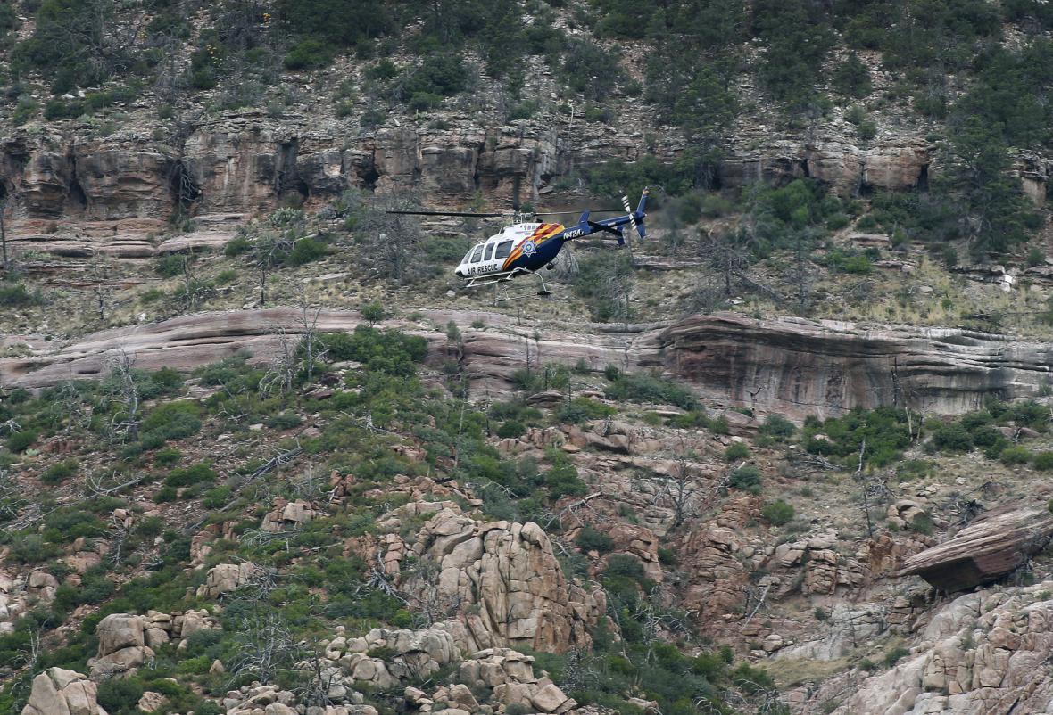 Záchranná operace v Arizoně
