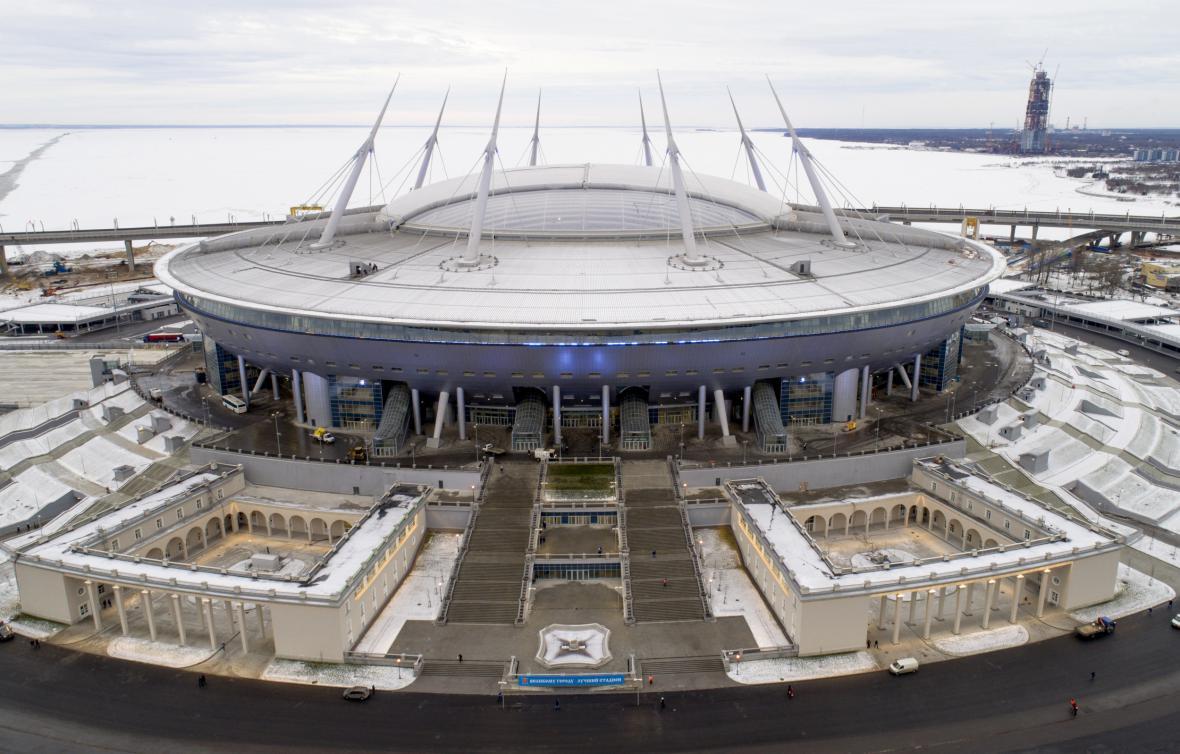 Fotbalový stadion v Petrohradu