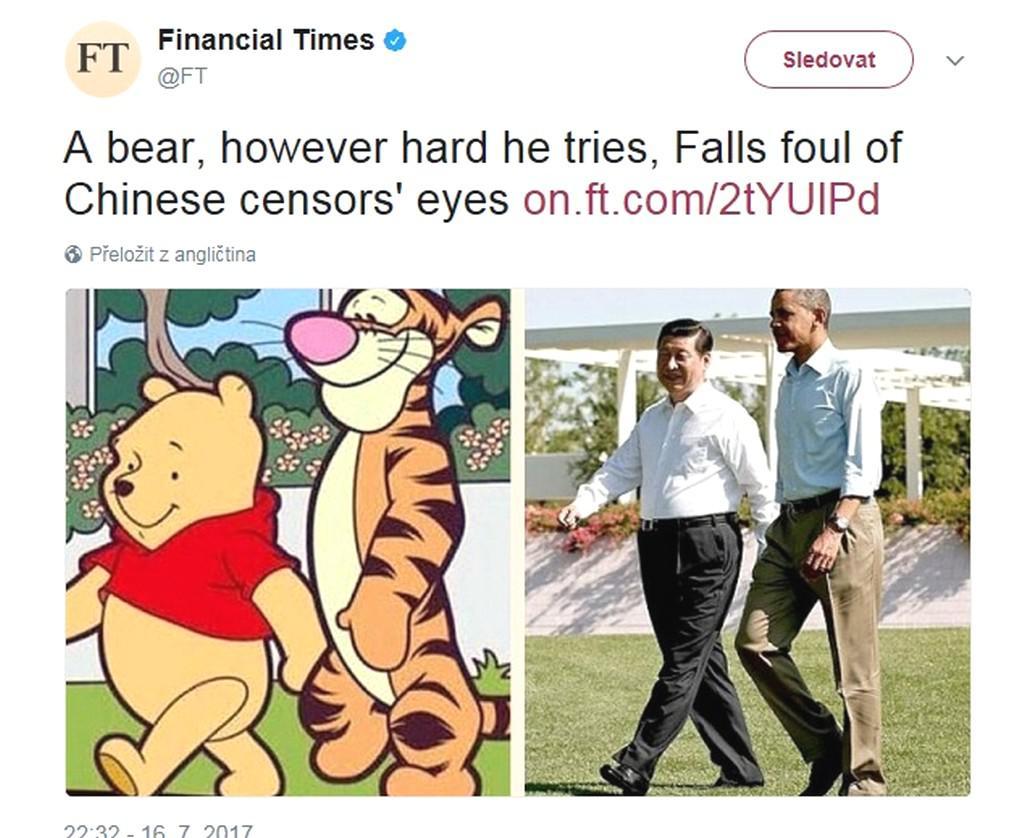 Medvídek Pú vs. Si Ťin-pching