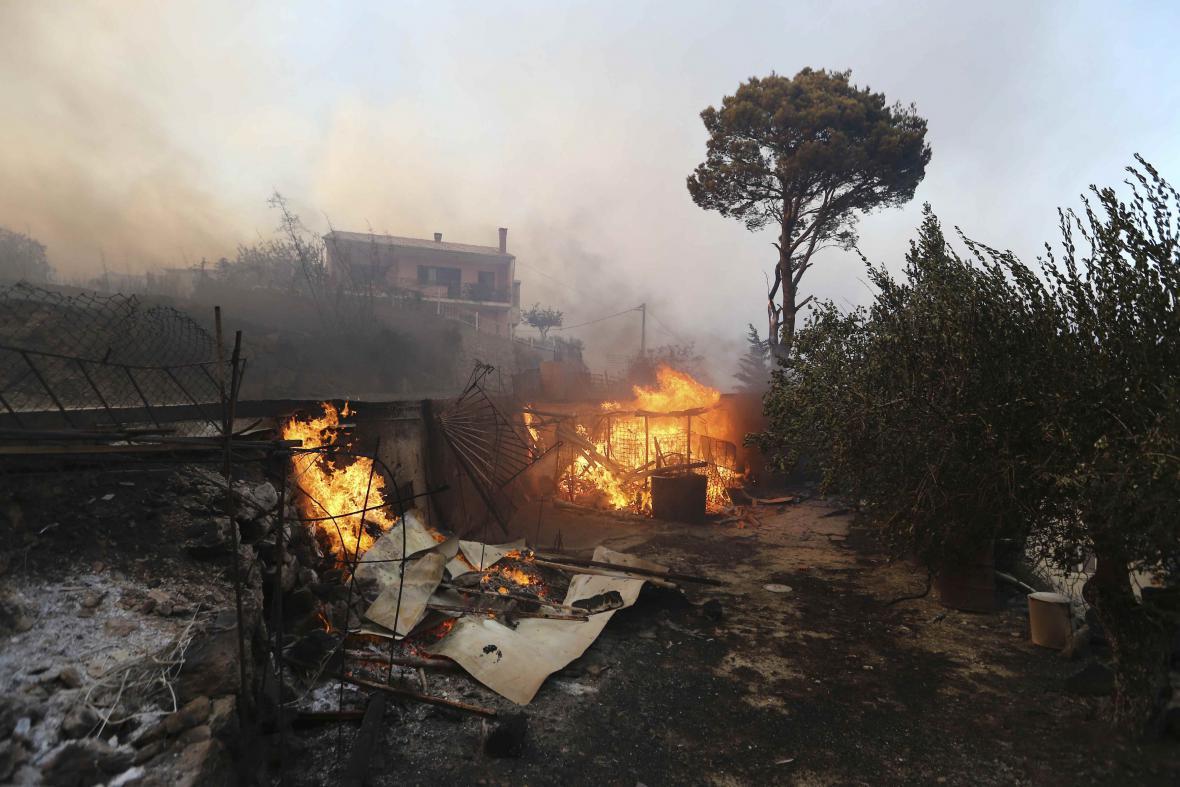 Požár u Splitu