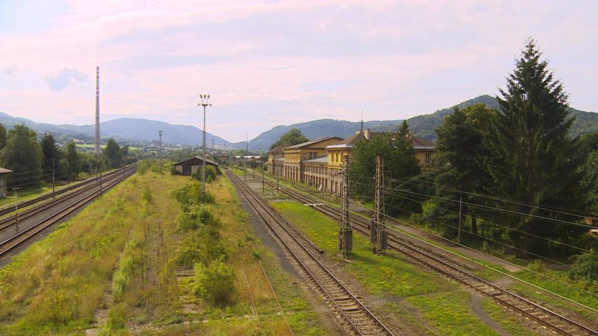 Okolí nádraží v Děčíně