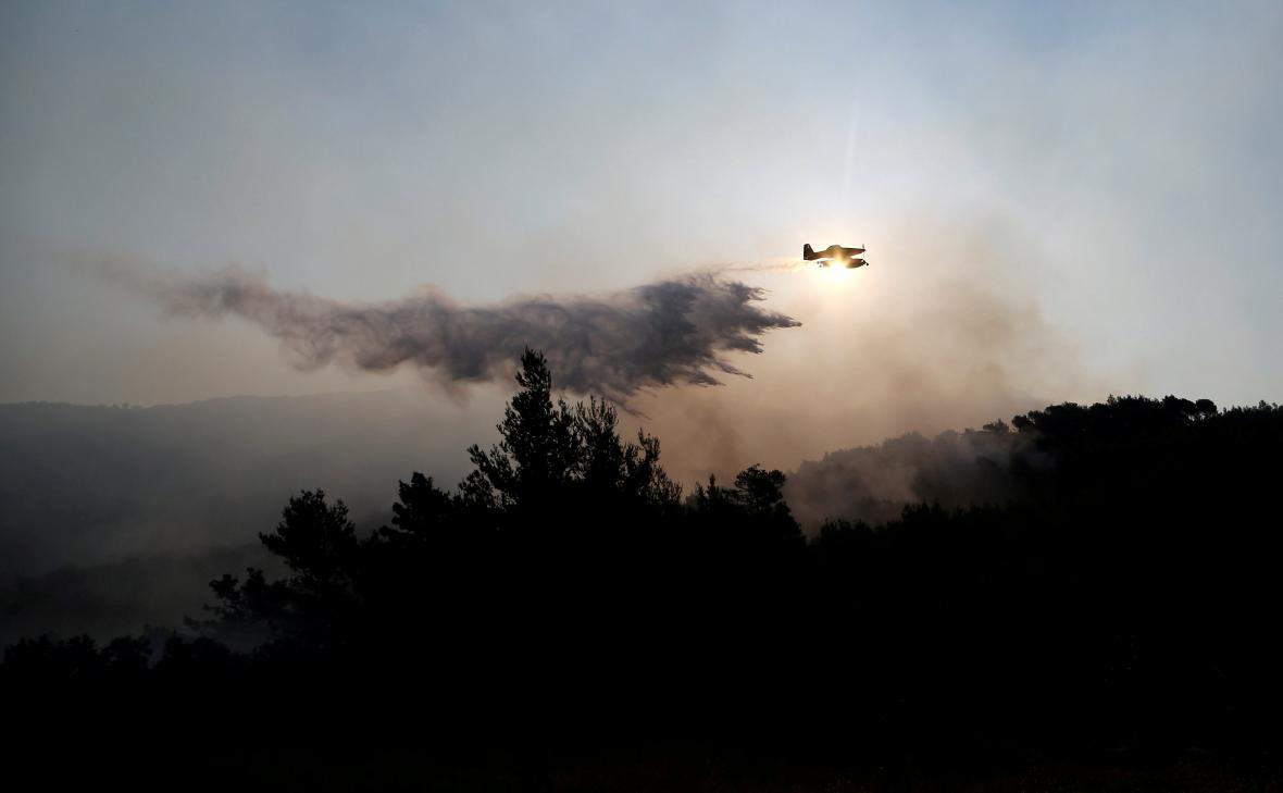 Lesní požáry nedaleko chorvatského Splitu