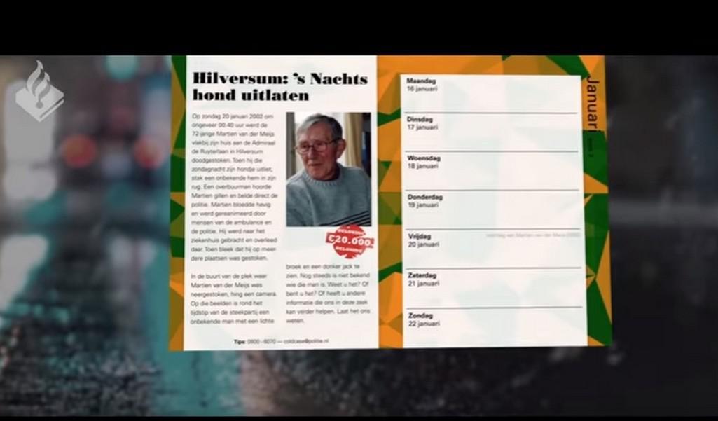 Nizozemský kalendář s oběťmi