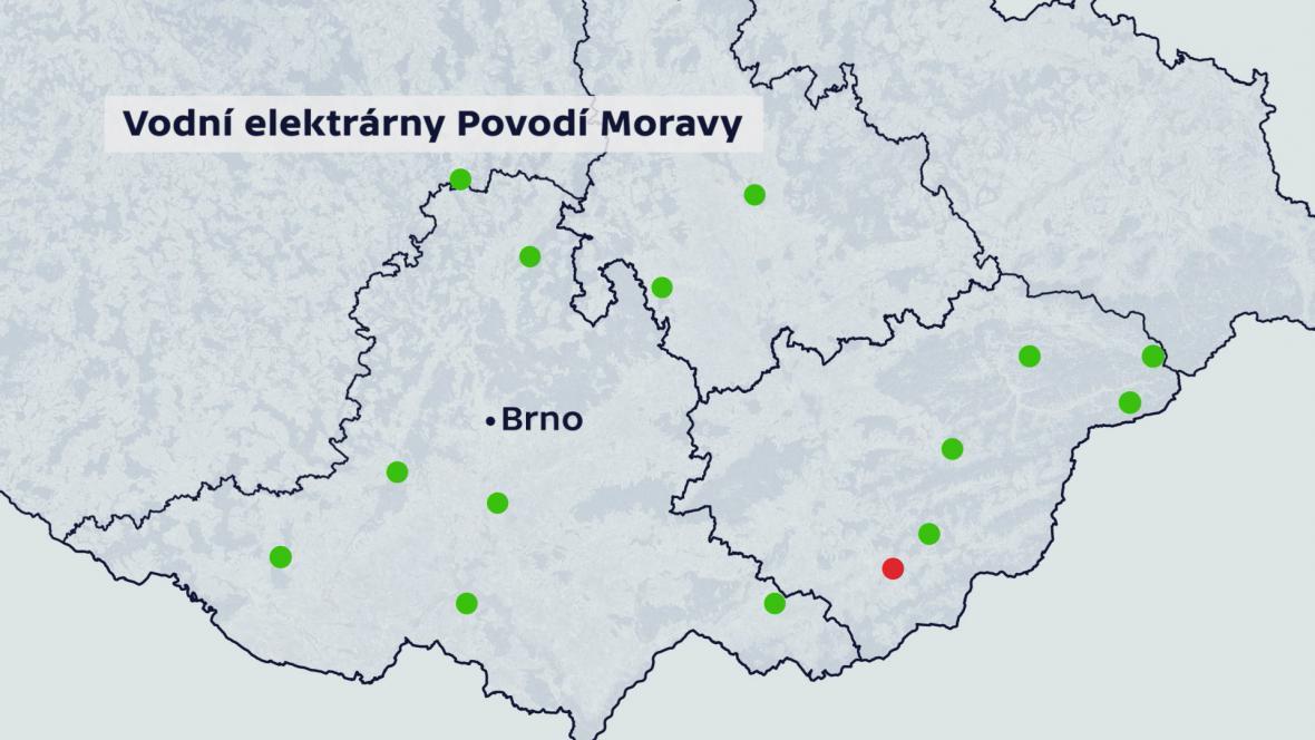 Vodní elektrárny Povodí Moravy