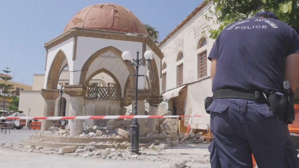 Studna zničená zemětřesením