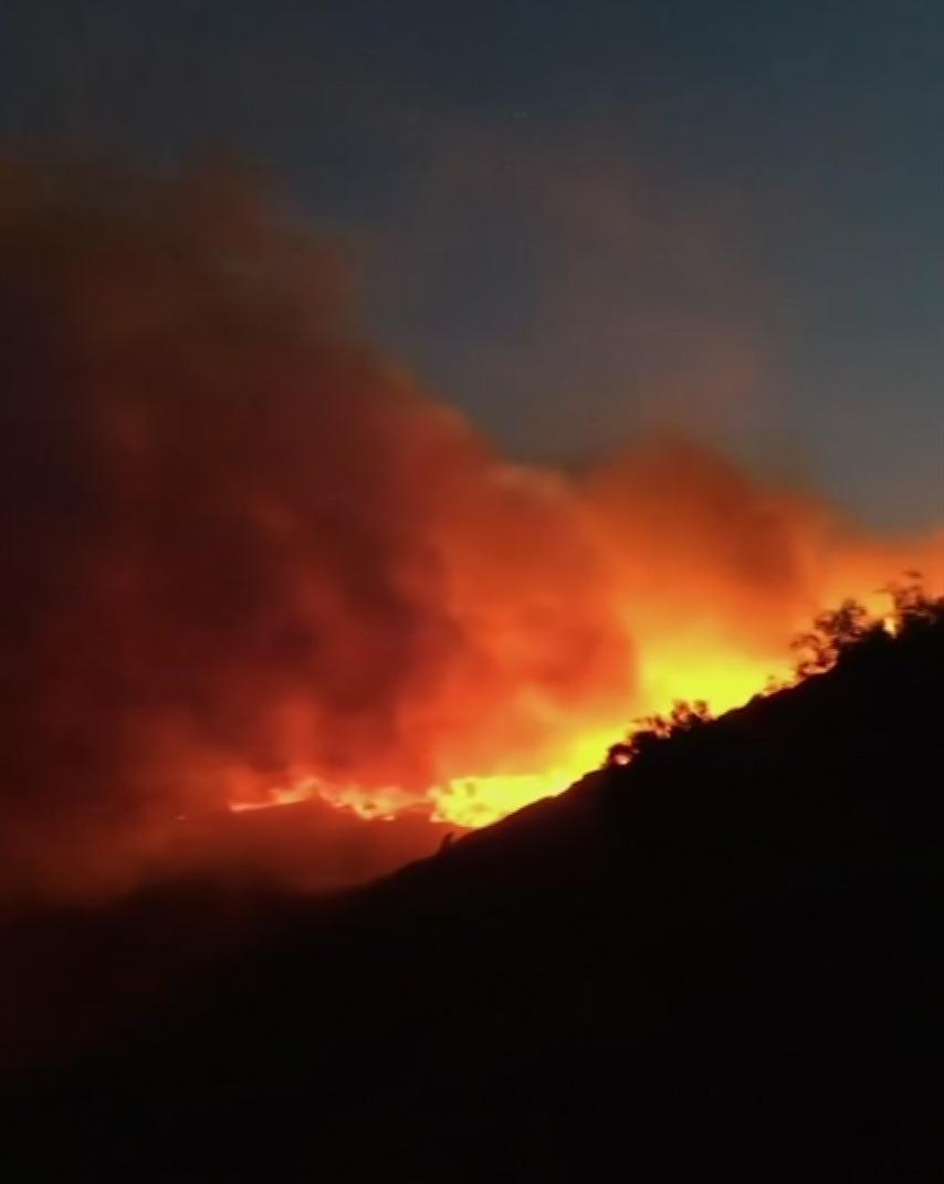 Požár v jihovýchodní Francii