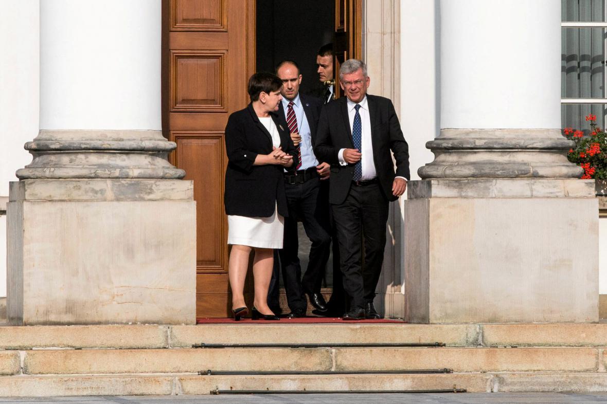 Premiérka Beata Szydlová po schůzce s prezidentem Dudou