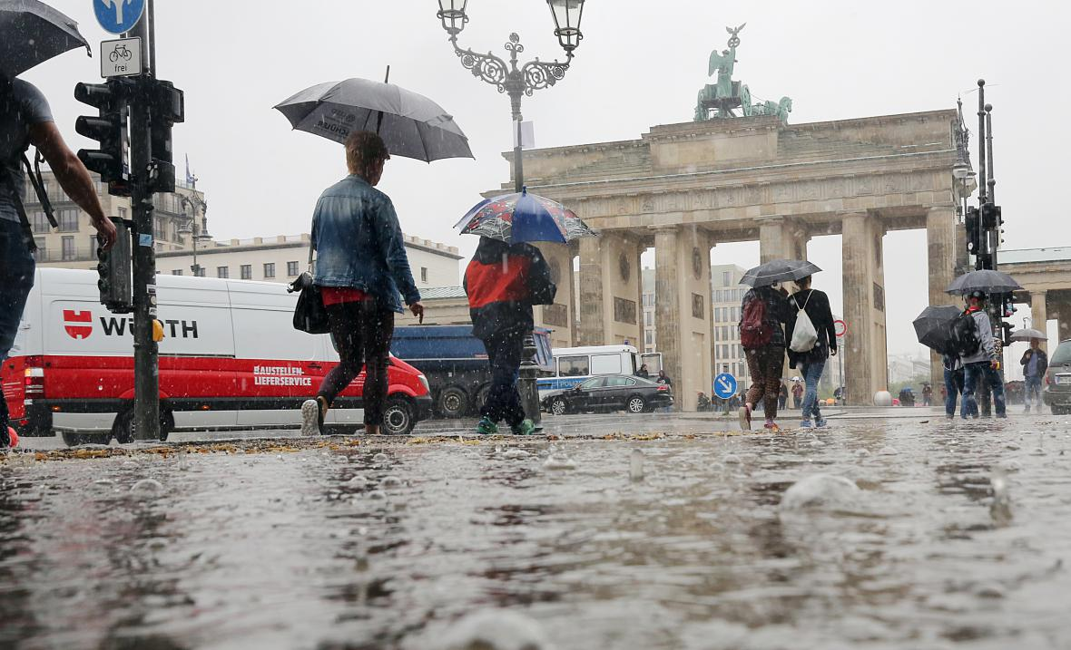 Vytrvalé deště zasáhly i Berlín