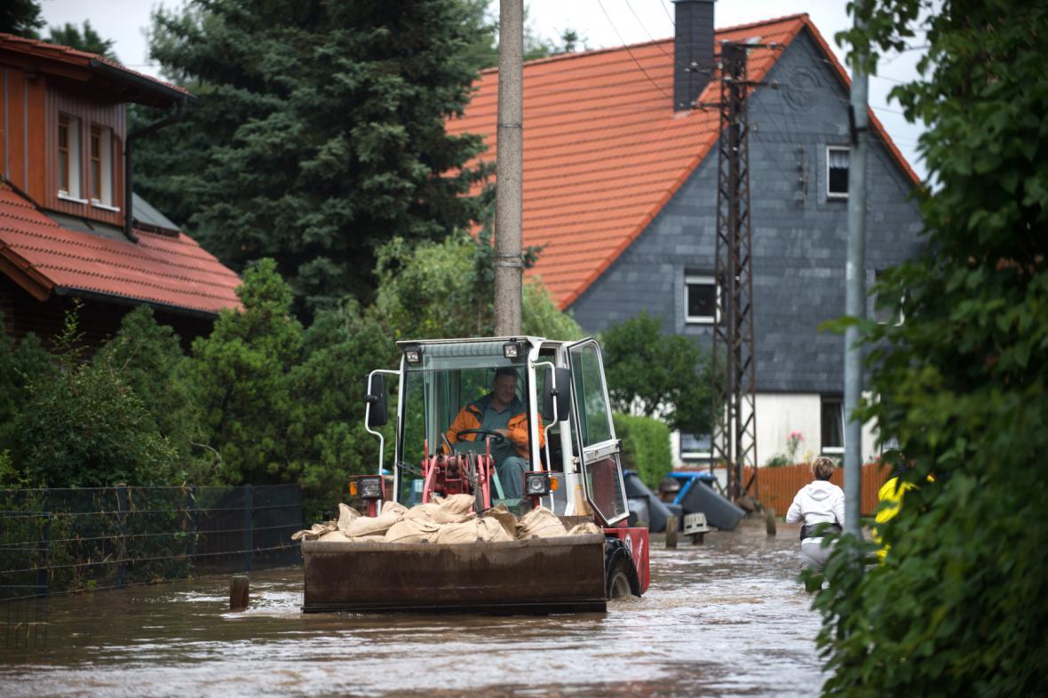 Velká voda v Silstedtu