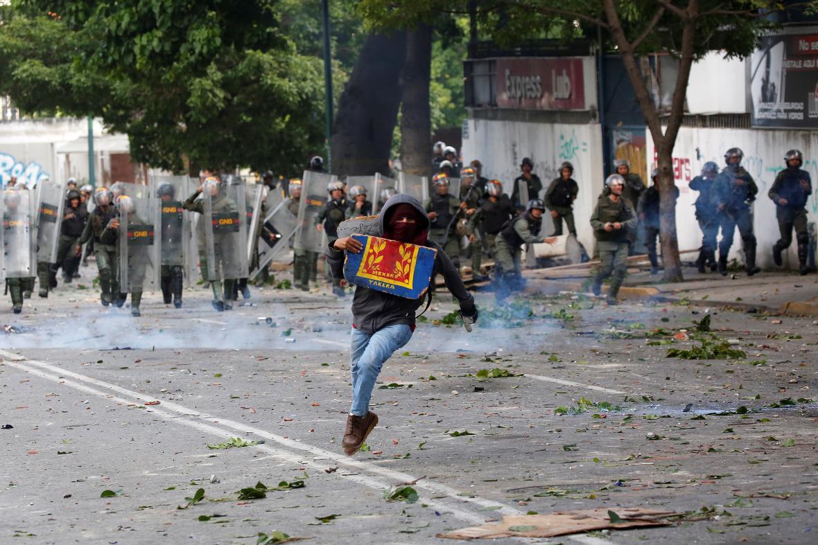 Demonstrant v Caracasu
