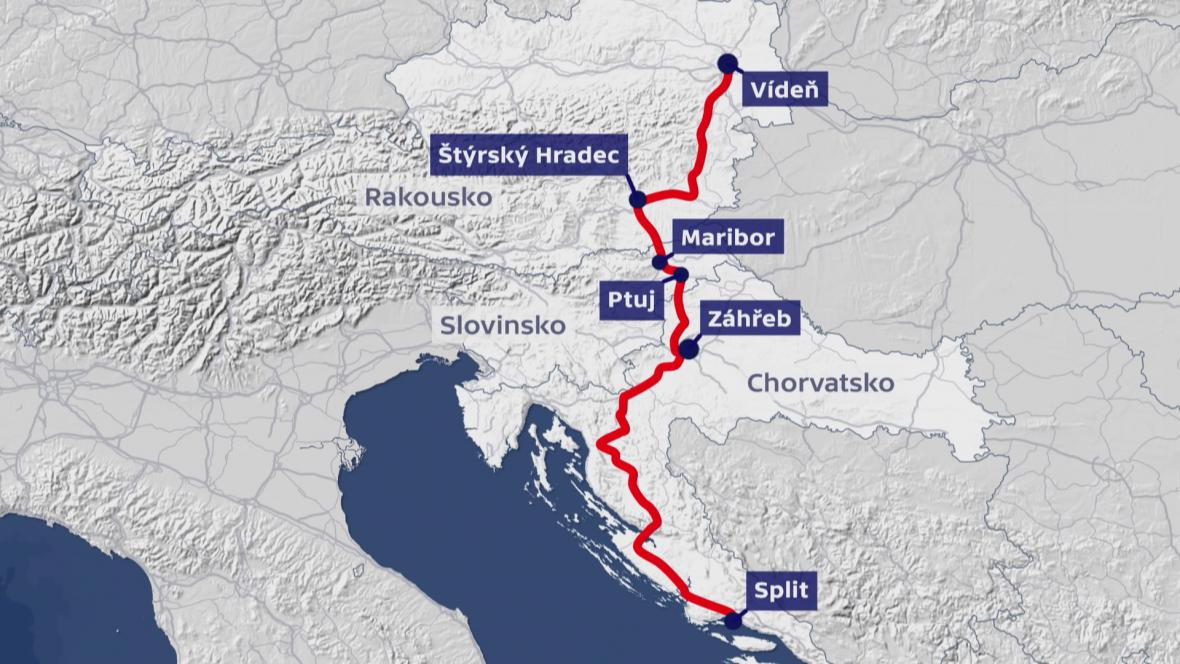 Nejčastější trasa do Chorvatska