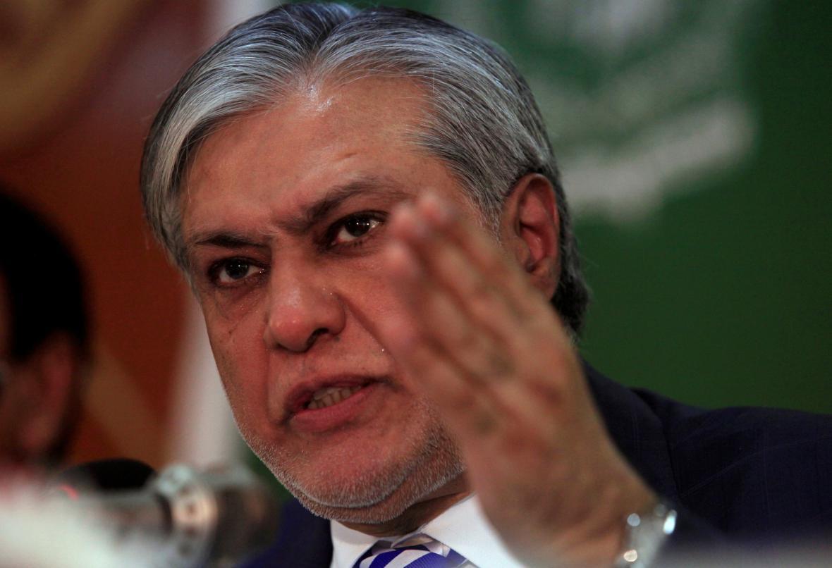 Pákistánský ministr financí Išak Dar
