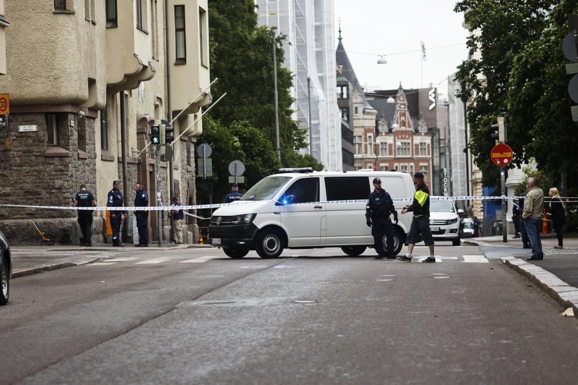 Místo tragédie v Helsinkách