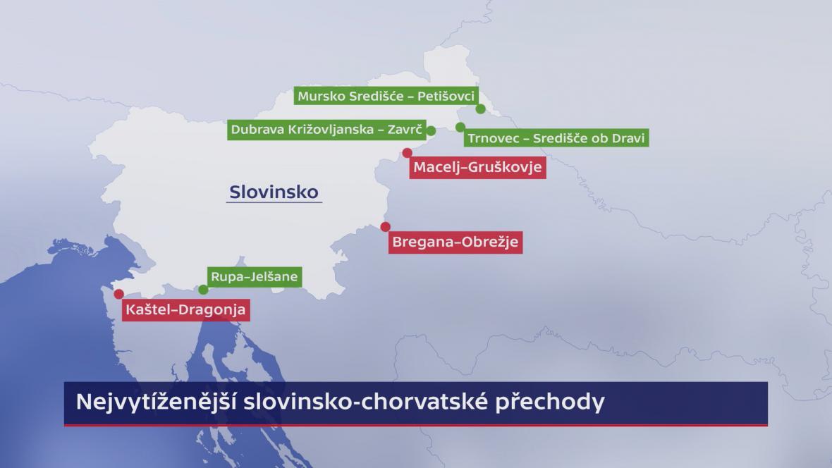 Přechody mezi Slovinskem a Chorvatskem