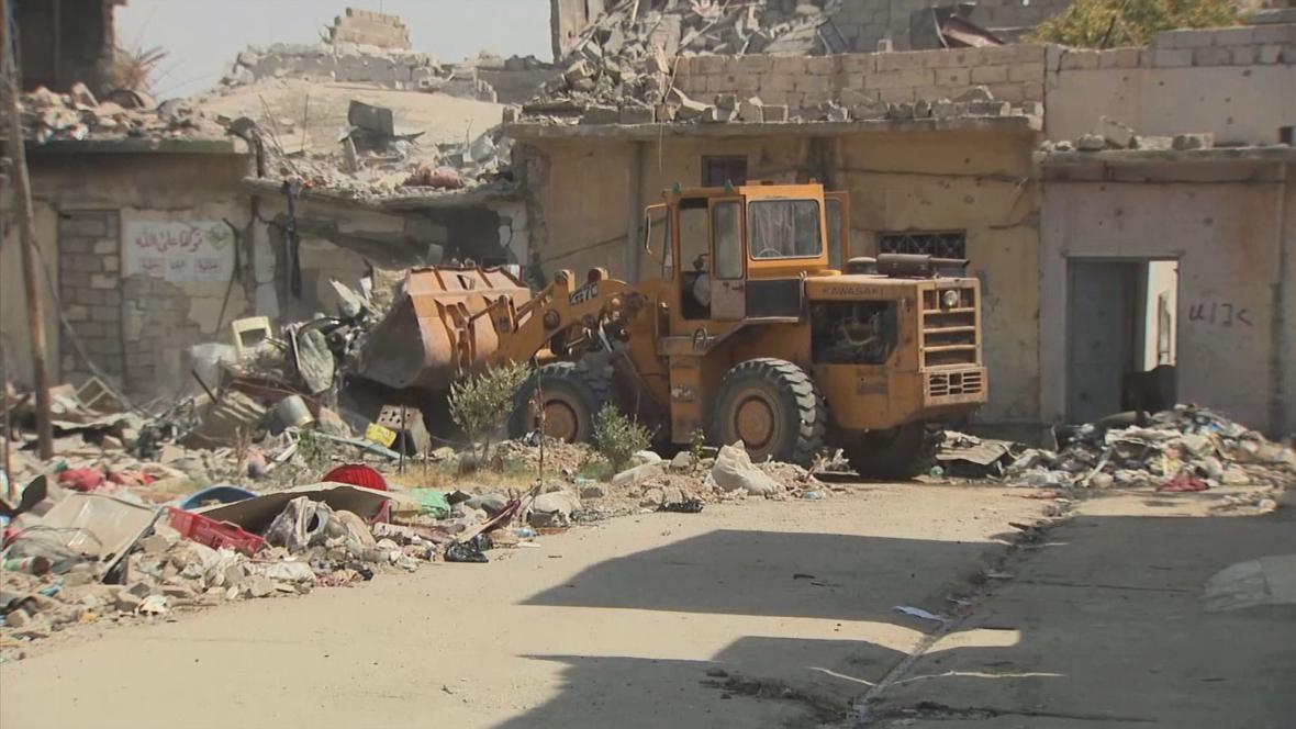 Řada domů v Mosulu musí k zemi