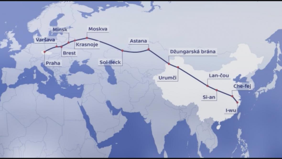 Vlak z Česka do Číny