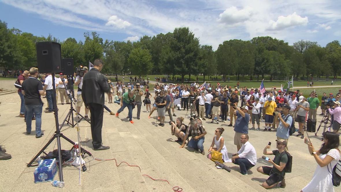 Demonstrace před Lincolnovým památníkem