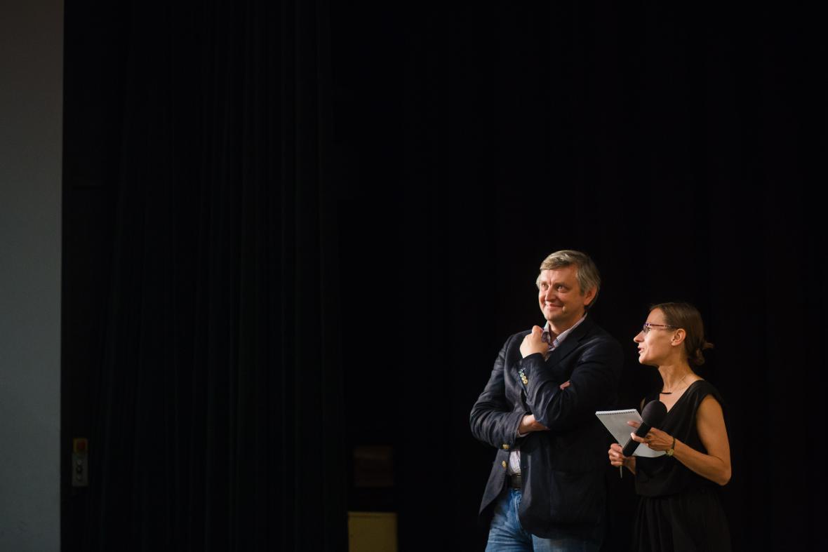 Sergej Loznica při diskuzi po filmu