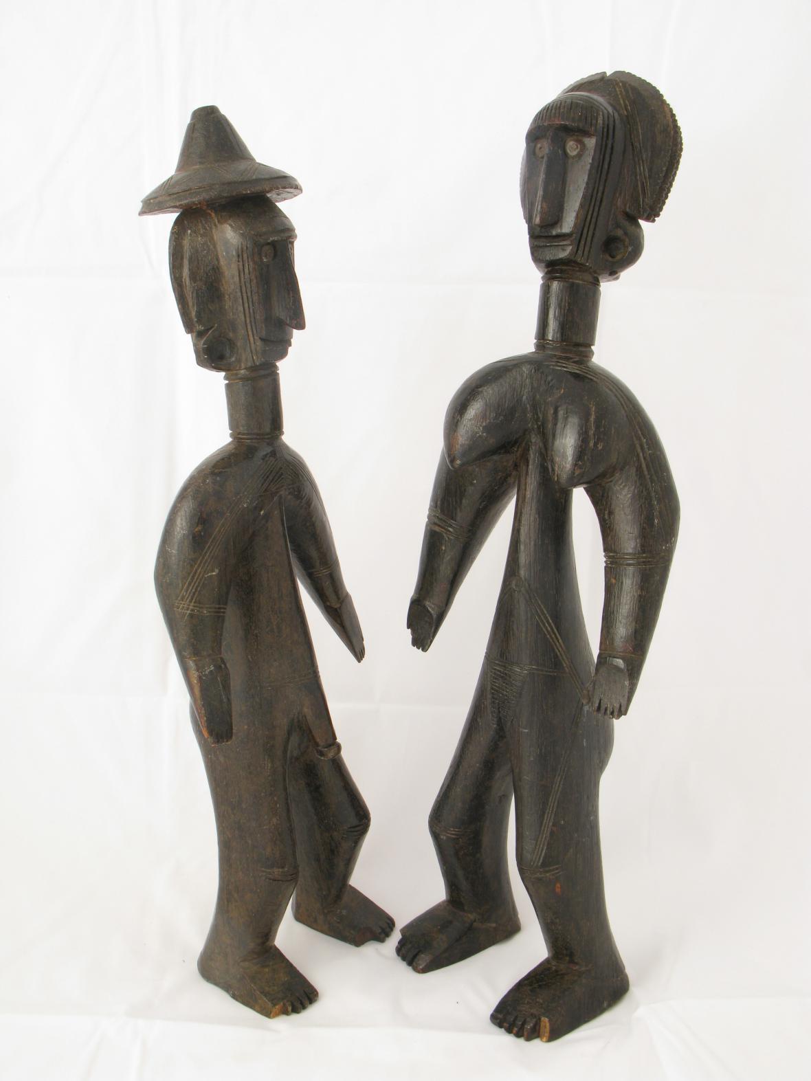 Soška muže a ženy, Mali, 19./20. st.