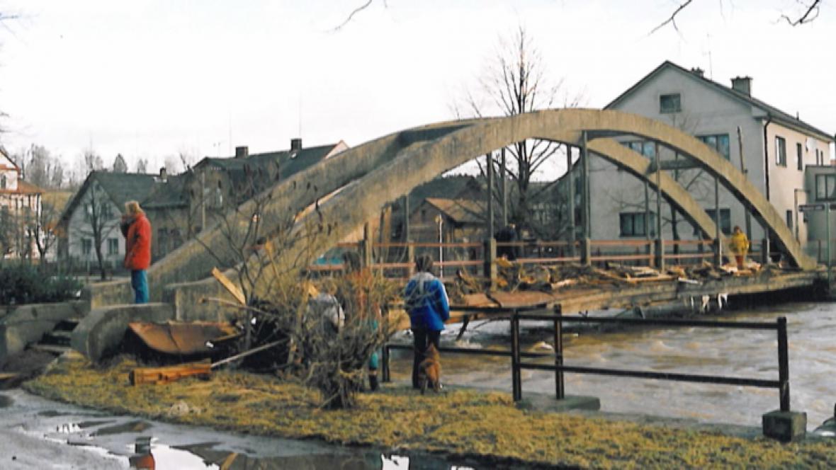 Následky poslední větší povodně ve městě