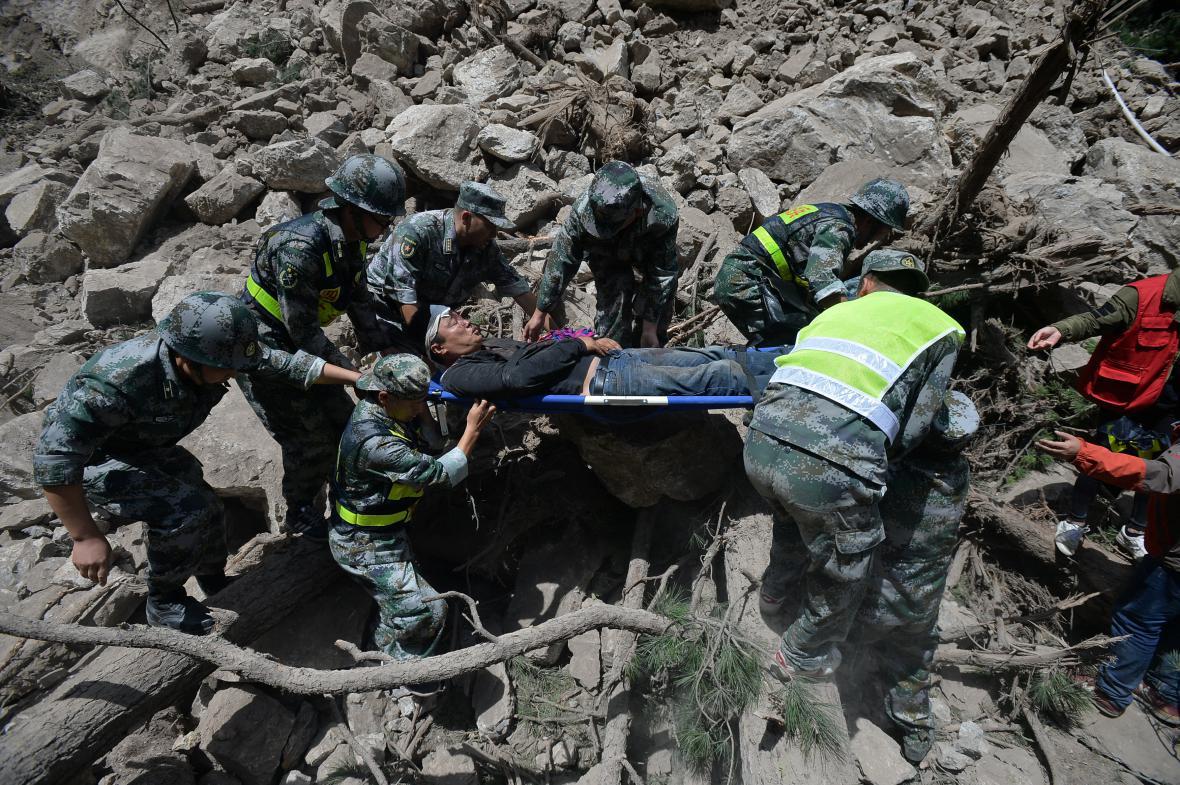 Důsledky zemětřesení v Číně