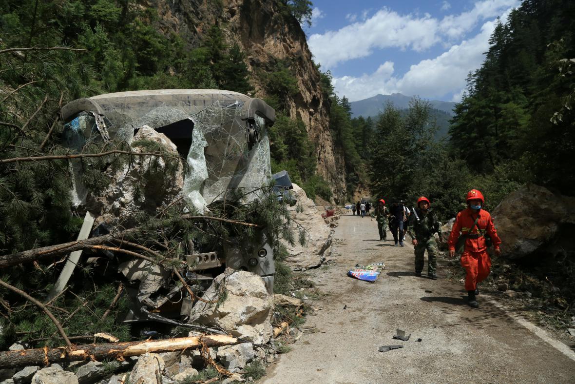 Následky zemětřesení v provincii S'-čchuan