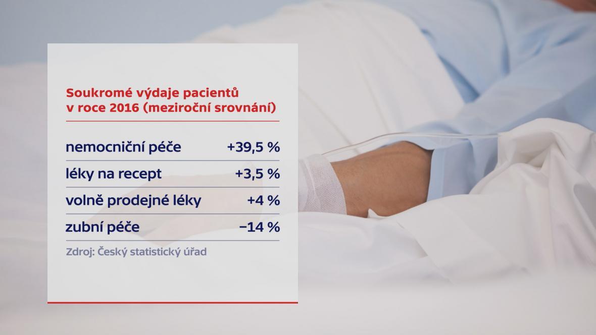 Soukromé výdaje pacientů v loňském roce