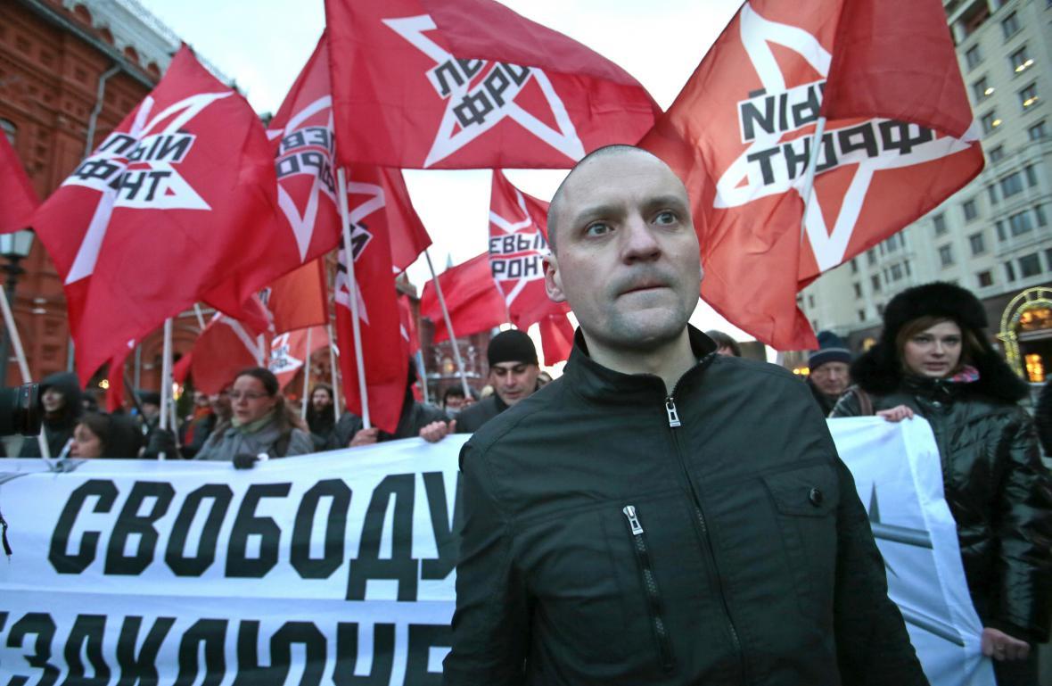 Udalcov během demonstrace v Moskvě (listopad 2012)