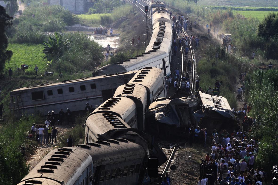 Železniční neštěstí v Egyptě