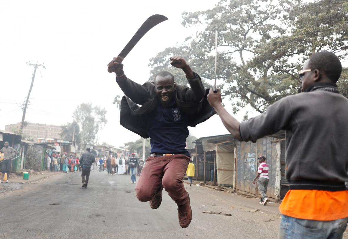 Nepokoje ve slumu v Nairobi