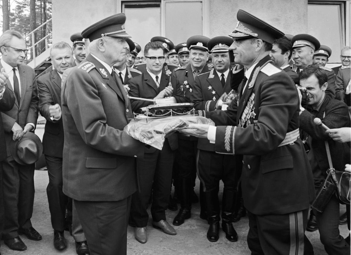 Okupační sovětská vojska v Milovicích