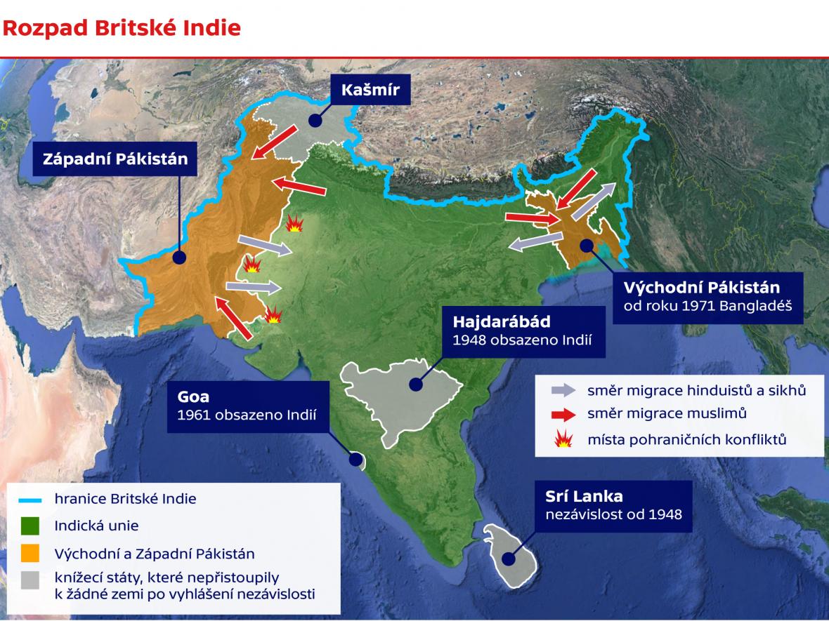 Rozpad britské Indie