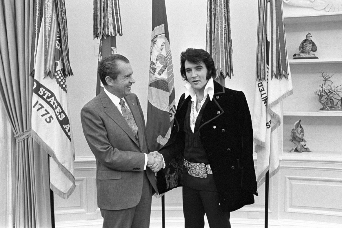 Richard Nixon a Elvis Presley, 1970