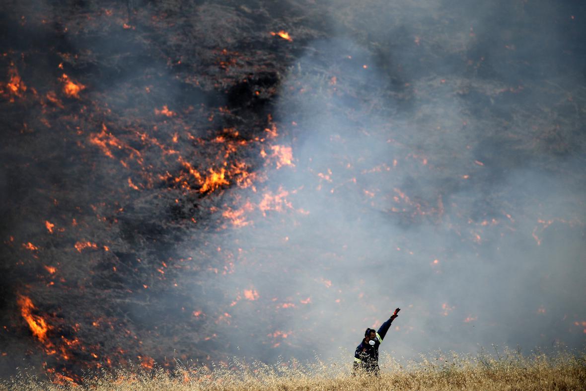 Požár u Metochi u Atén