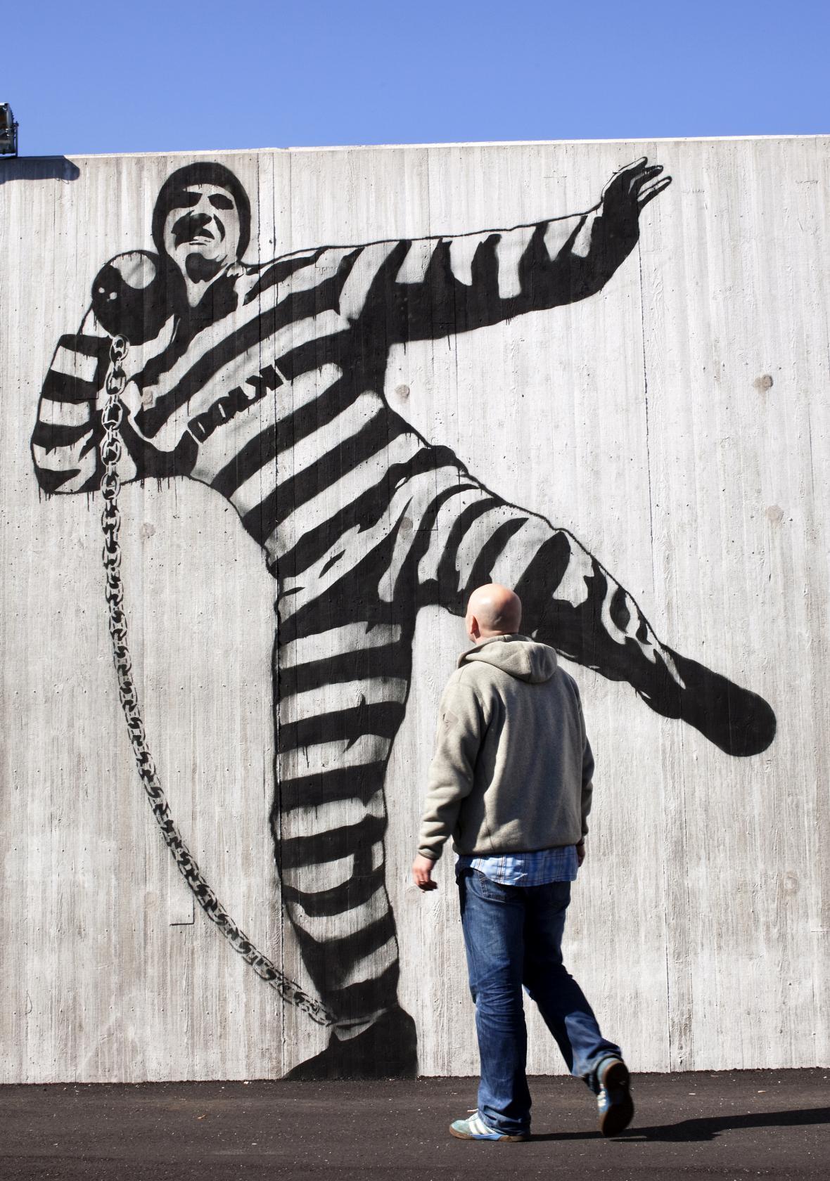 Graffiti ve věznici Halden v Norsku