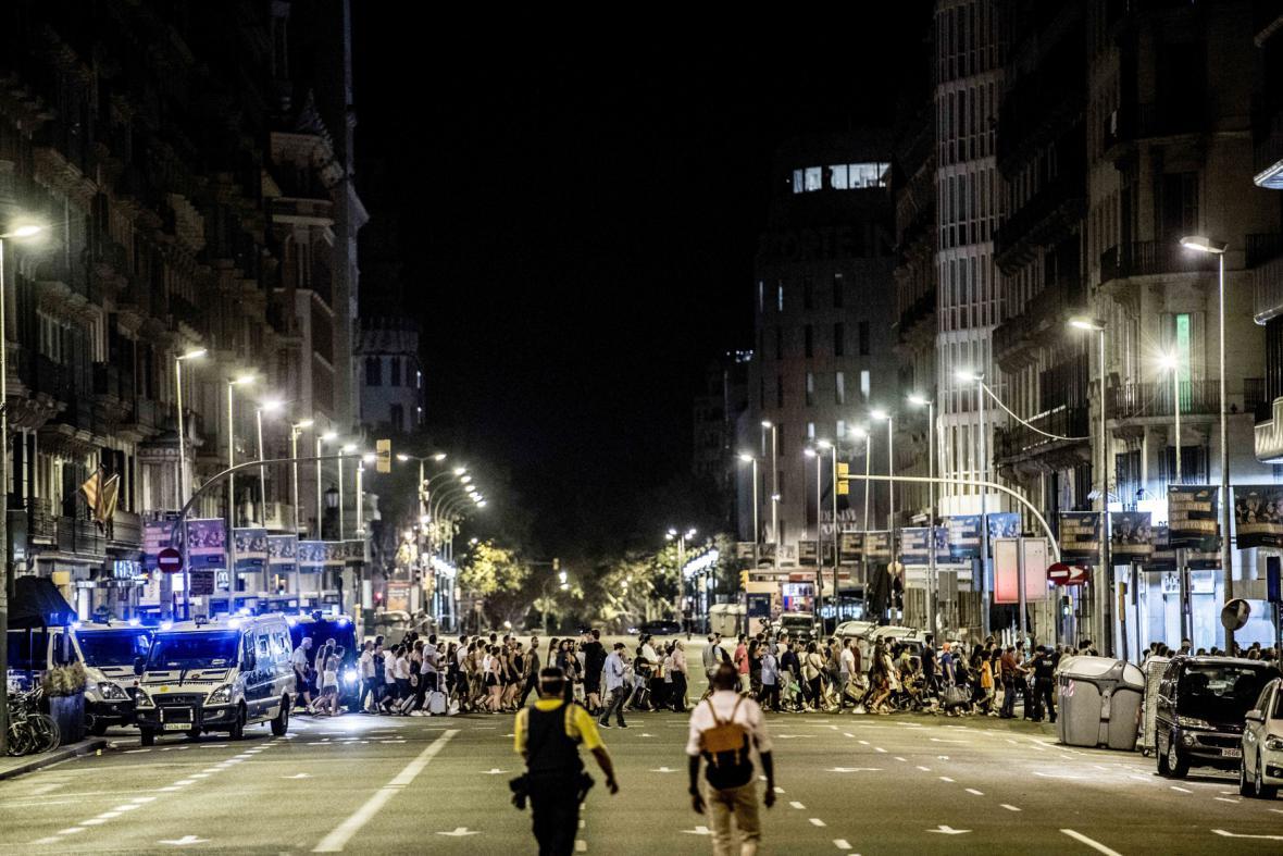 Uzavřená oblast v Barceloně po teroristickém útoku