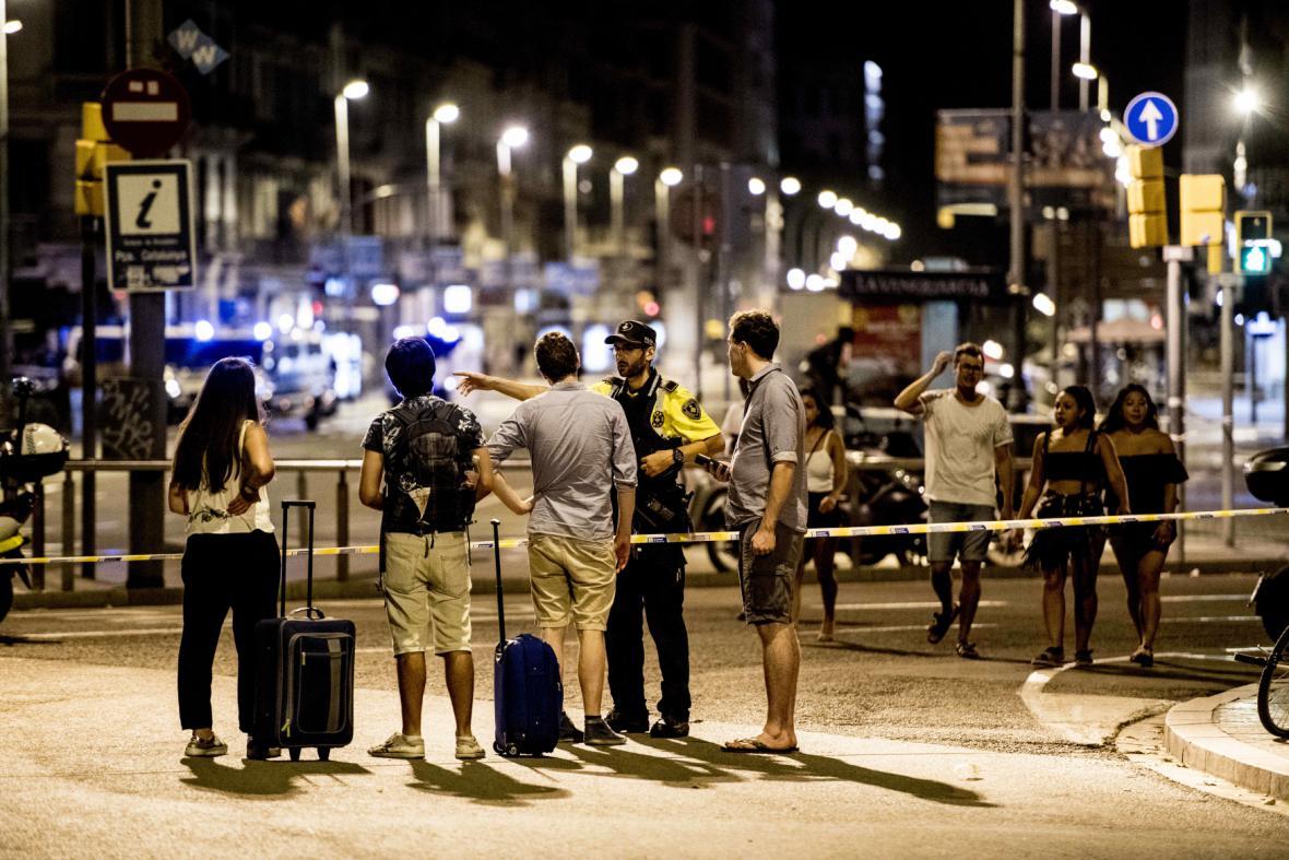 Policie uzavřela po útoku oblast