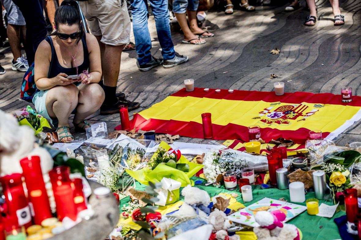 Pietní místo v Barceloně