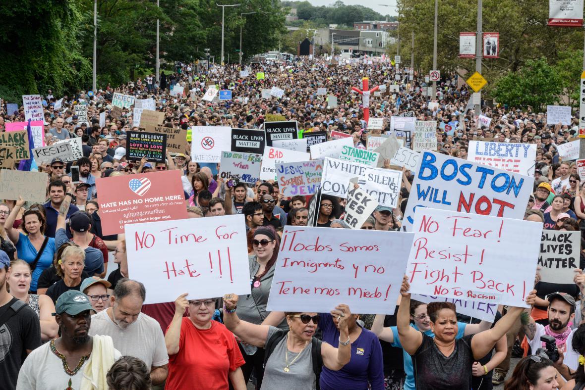 Protest proti neonacismu
